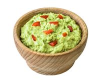 Guacamole Isolated on White Background Royalty Free Stock Photography