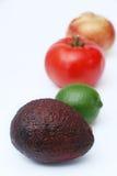 Guacamoleingrediënten Stock Afbeeldingen