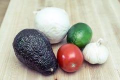Guacamoleingrediënten Stock Fotografie