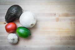 Guacamoleingrediënten Stock Foto