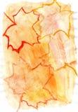 Guache do amarelo alaranjado Fotos de Stock Royalty Free