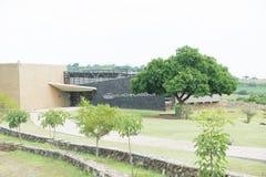 Guachimontones om Piramidesbureau Stock Foto