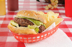 Guacomole burger Royalty Free Stock Images