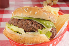 Guacomole burger Royalty Free Stock Photo