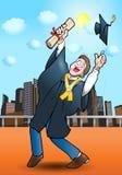 Guadagno del diploma Immagine Stock