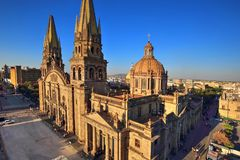 Guadalajara Cathedral, Mexico stock photo