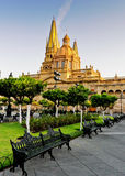 Guadalajara Cathedral, Sunday morning Stock Images