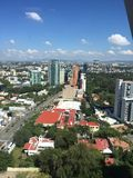 Guadalajara för sikt för mic för kontorspanorá finansiell mitt Arkivbild