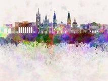 Guadalajara horisont i vattenfärg Royaltyfria Bilder