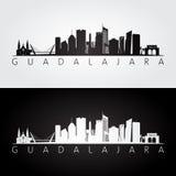Guadalajara horisont och gränsmärkekontur Royaltyfria Foton