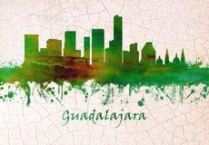 Guadalajara Meksyk linia horyzontu ilustracji