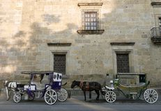 Guadalajara, Mexique 6 décembre 2017 : Guadalajara, Mexique 6 décembre 2017 : Chariots pour la location images stock