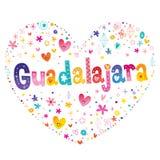 Guadalajara - stad in Mexico royalty-vrije illustratie