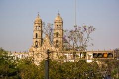 Guadalajara Zapopan Catedral domkyrka Jalisco Mexico Arkivbilder
