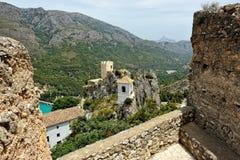 Guadalest в Испании. Взгляд сверху замока Стоковое Изображение