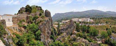 Guadalest в Испании. Взгляд сверху замока Стоковая Фотография RF
