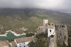 Guadalest Belfry and Castle Royalty Free Stock Photo
