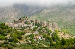 Guadalest Castle, Κόστα Μπλάνκα, επαρχία της Αλικάντε, Comunidad Valenciana, Ισπανία Ευρώπη στοκ εικόνα