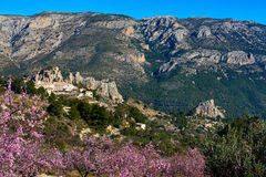 Guadalest castle on a rock. Spain Royalty Free Stock Photos
