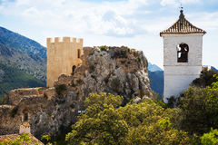 Guadalest castle Stock Photo