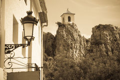 Guadalest castle Stock Photography
