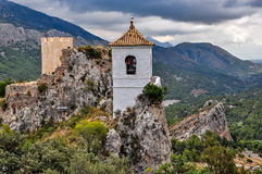 Guadalest on a cloudy day Stock Photography