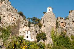 Guadalest fortification Royalty Free Stock Photography