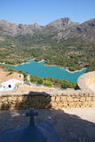 Guadalest lake and village. Royalty Free Stock Images