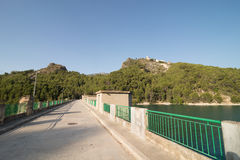 Guadalest reservoir dam Royalty Free Stock Photography