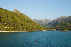 Guadalest reservoir Royalty Free Stock Image
