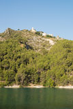 Guadalest  reservoir and town Stock Photo