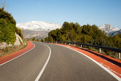 Guadalest road Stock Image