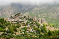 Guadalest slott, Costa Blanca, landskap av Alicante, Comunidad Valenciana, Spanien Europa Fotografering för Bildbyråer