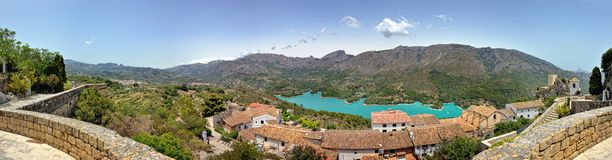 Guadalest in Spain. Panorama Royalty Free Stock Photo