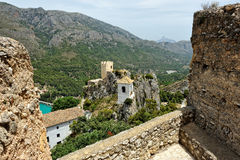 Guadalest in Spain. Top view of the castle Stock Image