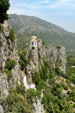 Guadalest in Spain. Top view of the castle Royalty Free Stock Image