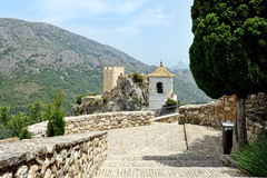 Guadalest in Spain. Top view of the castle Stock Photo
