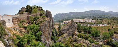 Guadalest in Spain. Top view of the castle Royalty Free Stock Photography