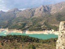 Guadalest Vallei in de provincie van Valencia in Spanje Stock Foto's