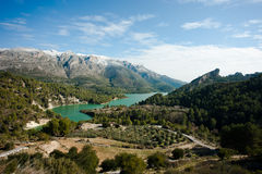 Guadalest valley winter scene Stock Photography