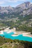 Guadalest water impoundment Stock Image