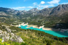 Guadalest water reservoir Stock Photos