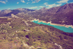 Guadalest water reservoir Stock Images