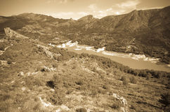Guadalest water storage Royalty Free Stock Photos