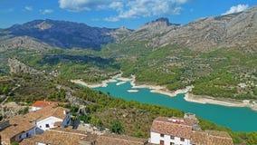 Guadalet rezerwuar, Alicante, Hiszpania Zdjęcie Stock