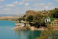 Guadalhorce Lake near Ardales, Spain. Stock Photos