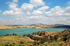 Guadalhorce Lake near Ardales, Spain. Royalty Free Stock Image