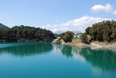 Guadalhorce Lake near Ardales, Spain. Stock Image