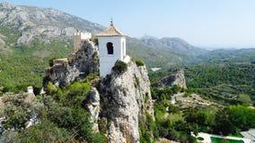 Guadaliest城堡,肋前缘布朗卡西班牙 免版税库存图片