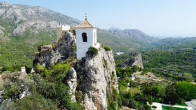 Guadaliest slott, Costa Blanca Spain Royaltyfria Bilder